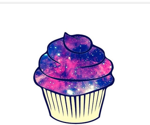 cupcake, galaxy, and overlay image