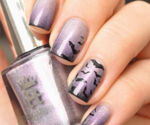 nails, Halloween, and nail polish image
