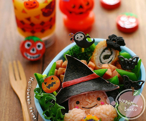 bento box, Halloween, and cute image
