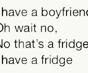 boyfriend, funny, and fridge image
