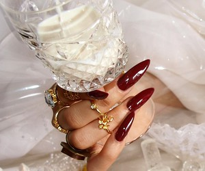 classy, nails, and glamour image