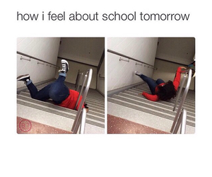 funny, school, and monday image