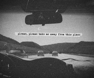 quotes, car, and away image