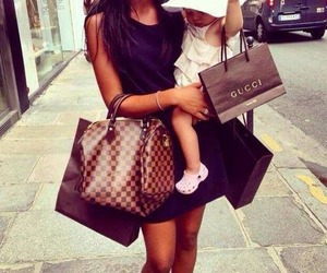 gucci, baby, and shopping image