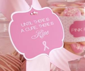 breast cancer, pink, and cure image