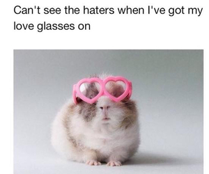 love, haters, and funny image