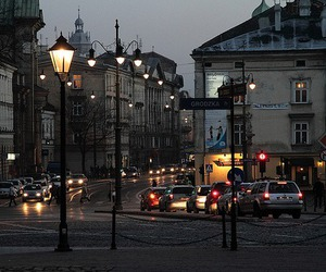 city, light, and street image