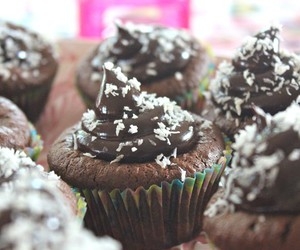 chocolate, cupcakes, and cocos image