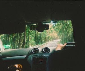 car, indie, and forest image