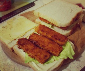 burger, fish, and instagram image