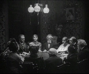 black and white and seance image