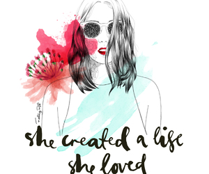 girl, life, and create image