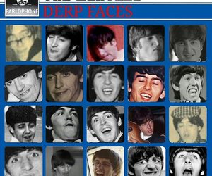 the beatles, derp, and funny image