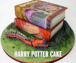 books, harry potter, and cake image