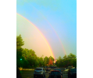 rainbow, Sunny, and two rainbows image