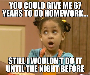 funny, kids, and homework image