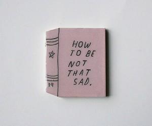 sad, book, and pink image