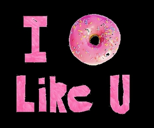donuts, pink, and funny image