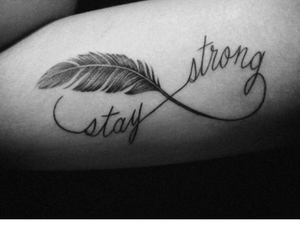 stay, strong, and tattoo image