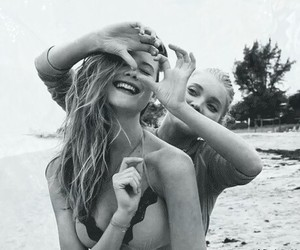 beach, best friends, and girl image