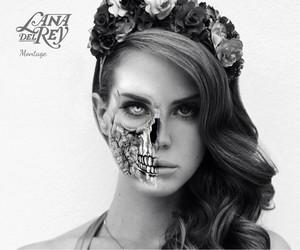 flower crown, skull, and Halloween image