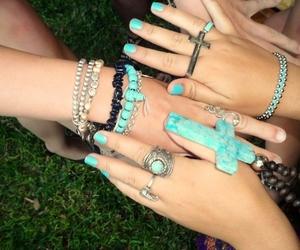 blue, cross, and jewellery image