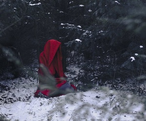 red, winter, and snow image