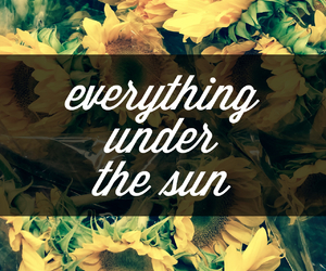 flowers, quote, and sun image
