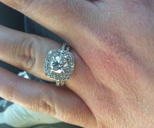 beautiful, rings, and wedding image