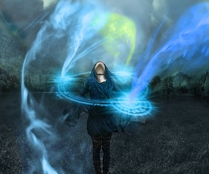 blue, magic, and powers image