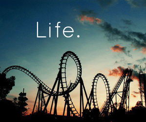 life, Roller Coaster, and up & down image