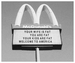 america, fat, and McDonald's image