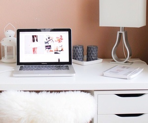 room, decor, and laptop image