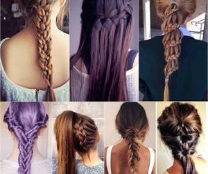 elegant, girl, and hair image