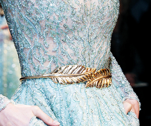 dress, blue, and gold image