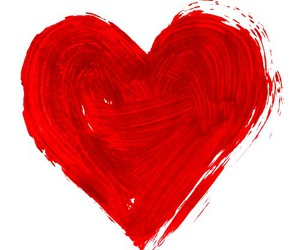 heart, paint, and red image