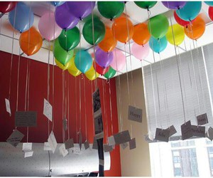 balloon, room, and card image