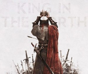 game of thrones, robb stark, and king in the north image