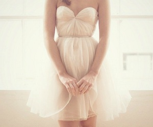 beautiful, dress, and white image