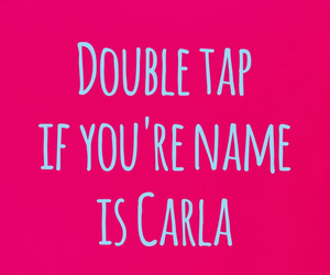 carla, name, and pink image