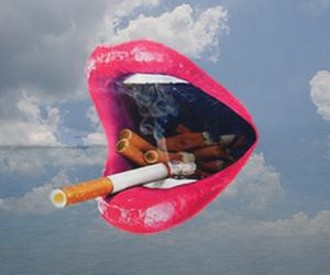 lips, cigarette, and smoke image