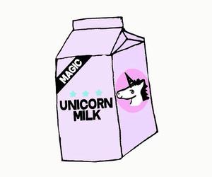milk, unicorn, and magic image