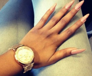 nails, watch, and pink image