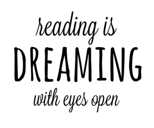 Dream, book, and quote image