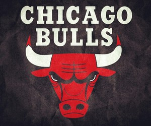black, chicago bulls, and red image