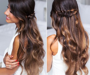 hairstyle, braid, and girl image