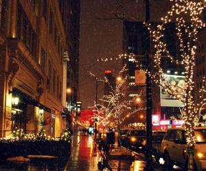 christmas, city, and light image