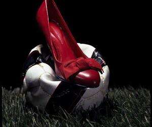 ball, heels, and soccer image