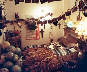 bedroom, room, and hipster image
