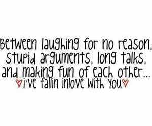 love, quote, and laughing image